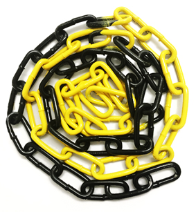 6 x 42mm Epoxy Coated Electro-Galvanised Steel Welded Barrier Chain - Yellow / Black